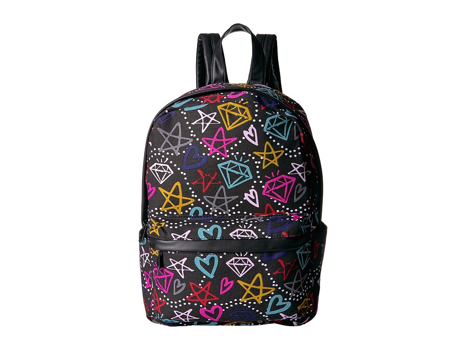 Circus by Sam Edelman - Graffiti Print Backpack (Black/Multi Graffiti) Backpack Bags