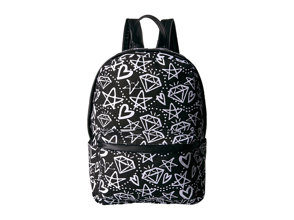 Circus by Sam Edelman - Graffiti Print Backpack (Black/White Graffiti) Backpack Bags