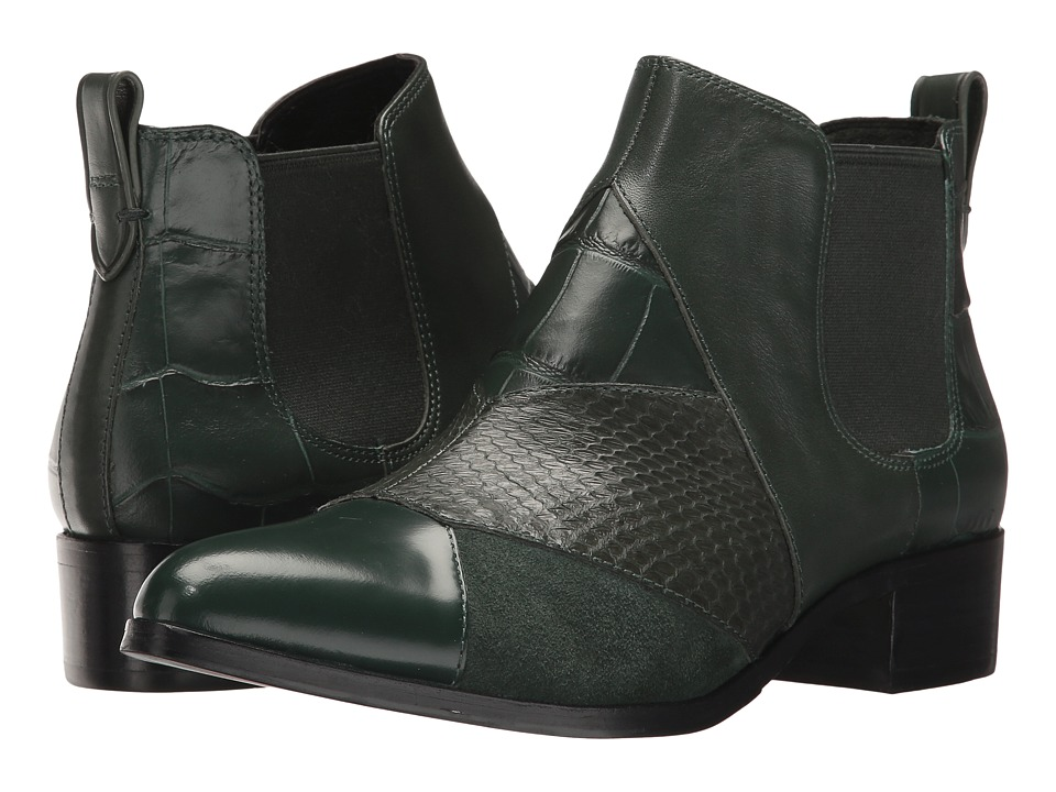 COACH - Suffolk Patchwork (Racing Green/Racing Green Patchwork Snake/Calf) Women's Pull-on Boots