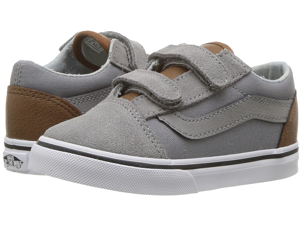 Vans Kids - Old Skool V (Toddler) ((C&L) Frost Gray/Acid Denim) Boys Shoes