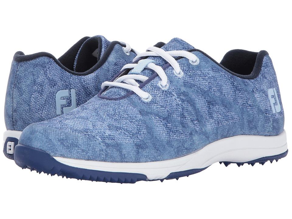 FootJoy - FJ Leisure (Egyptian Blue Snake) Women's Golf Shoes