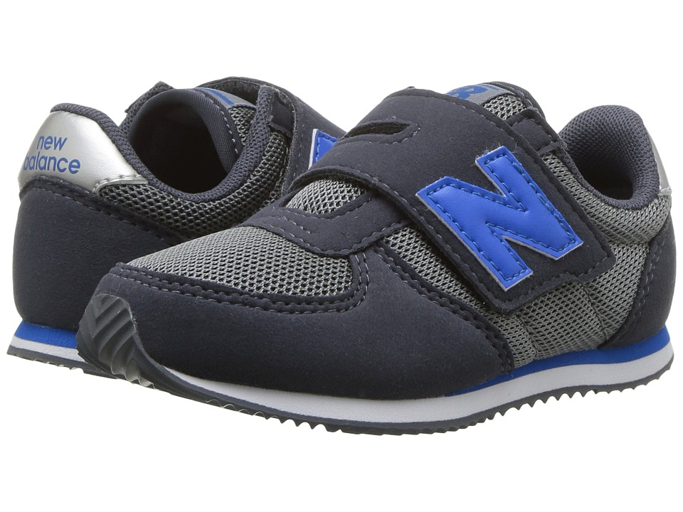 New Balance Kids KV220v1I (Infant/Toddler) (Grey/Blue) Boys Shoes