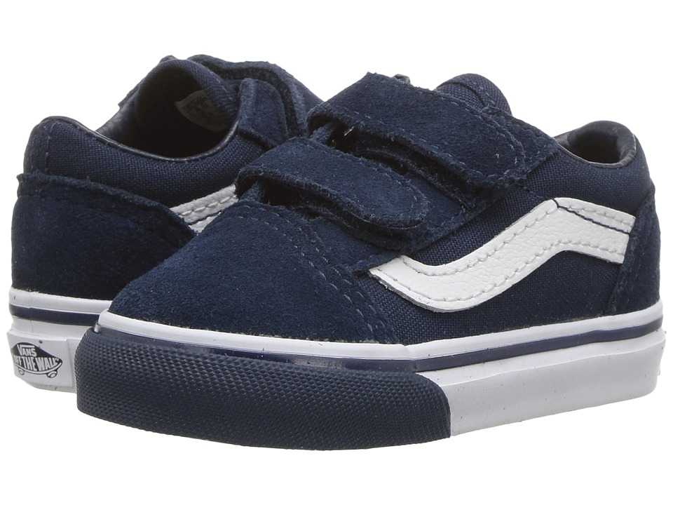 Vans Kids Old Skool V (Toddler) ((Mono Bumper) Dress Blues/True White) Boys Shoes