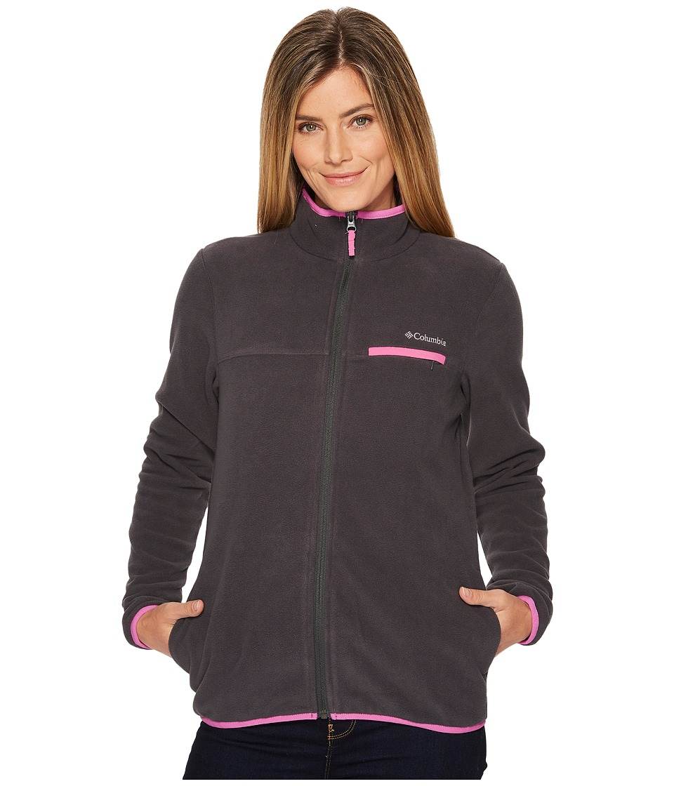 Columbia Mountain Crest Full Zip (Shark/Bright Lavender) Women
