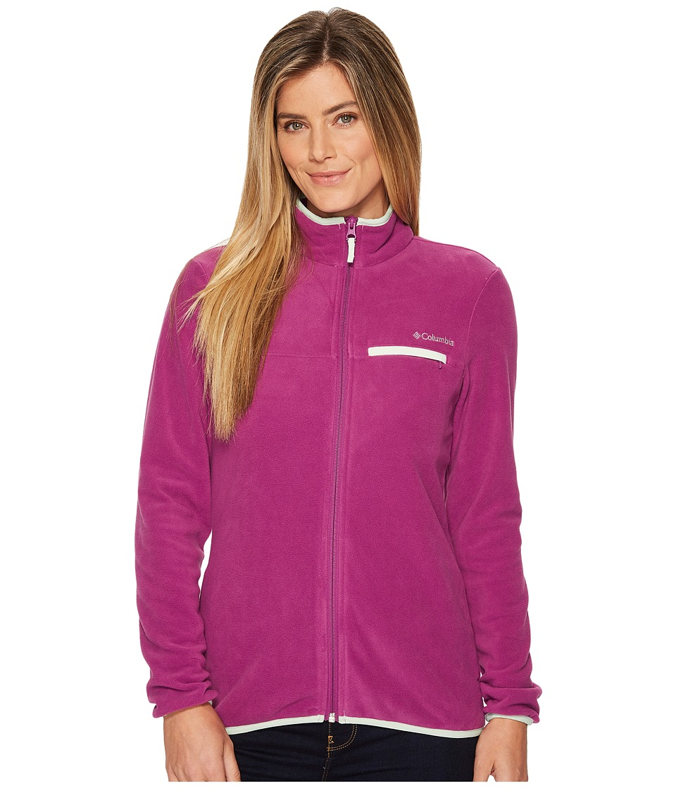 Columbia Mountain Crest Full Zip (Intense Violet/Ice Green) Women
