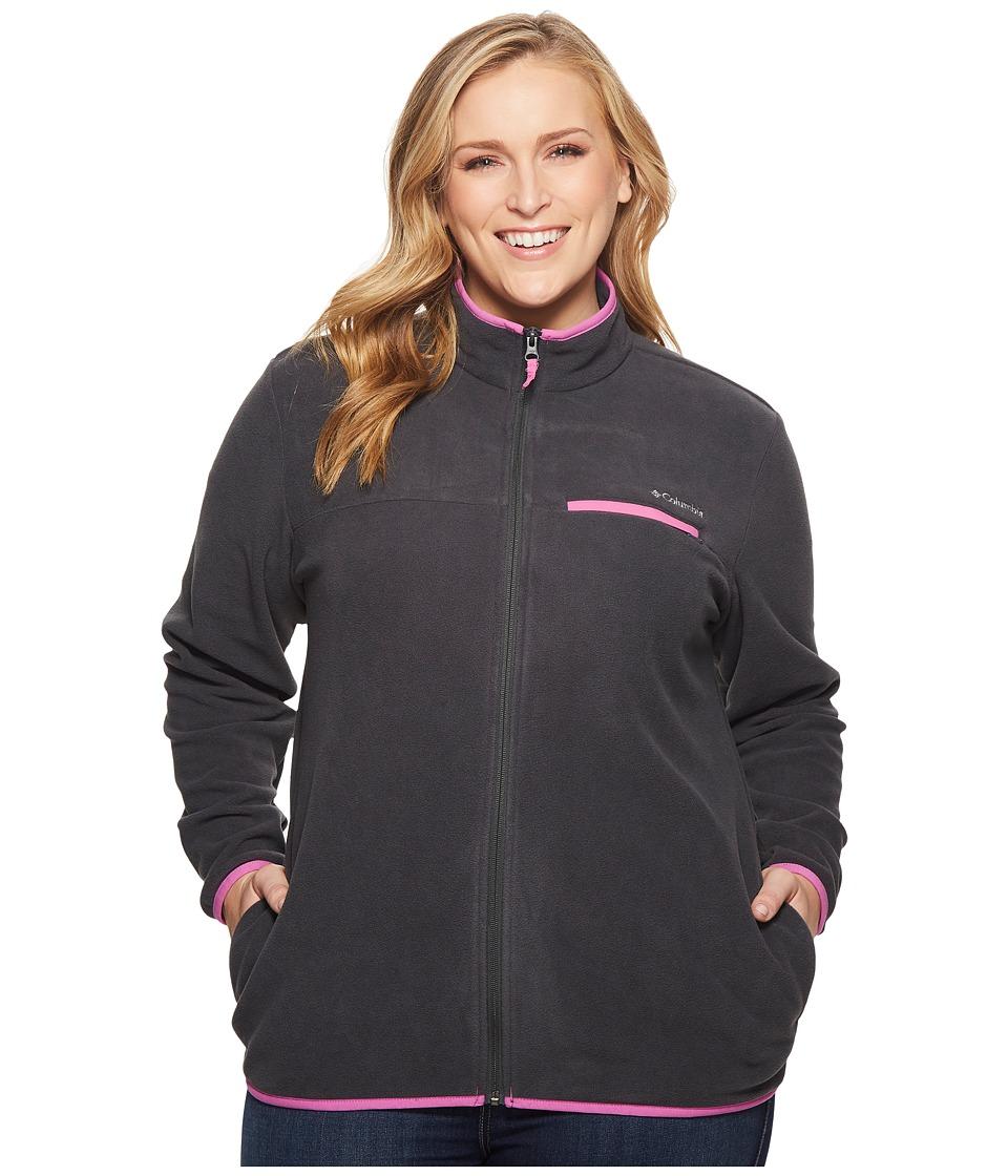 Columbia Plus Size Mountain Crest Full Zip (Shark/Bright Lavender) Women