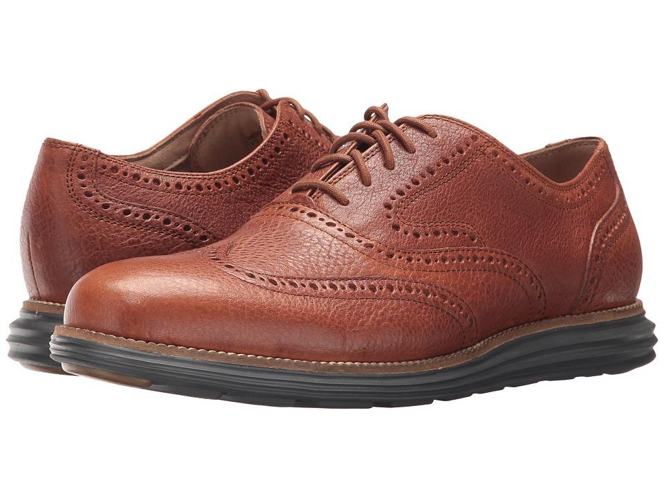 Cole Haan - O. Original Grand Short Wing Ox II (British Tan/Magnet) Men's Shoes