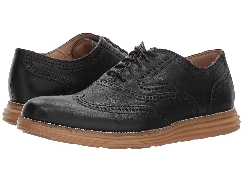 Cole Haan - O. Original Grand Short Wing Ox II (Black/Rubber) Men's Shoes