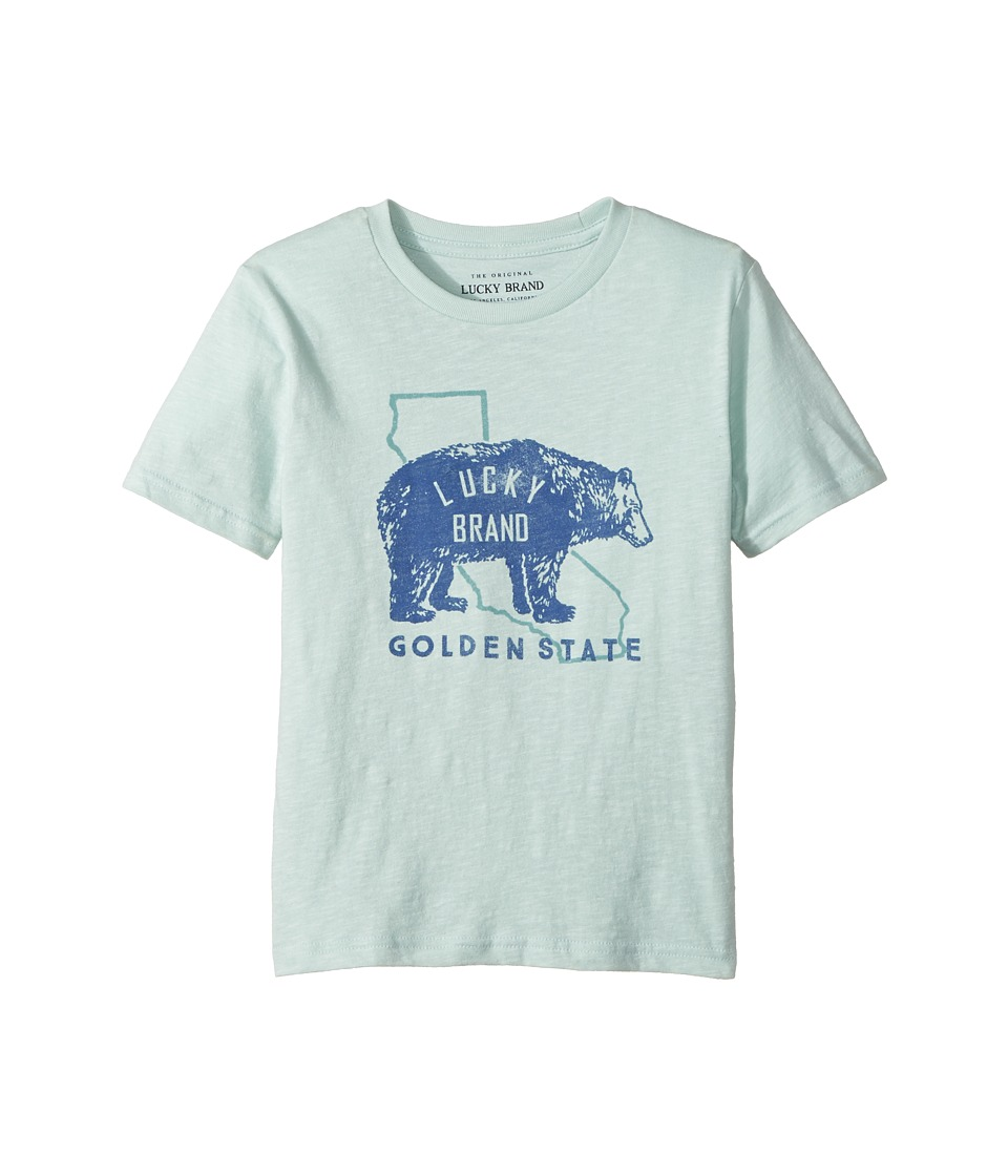 Lucky Brand Kids - Golden State Short Sleeve Graphic Tee (Little Kids/Big Kids) (Cool Window) Boy's T Shirt