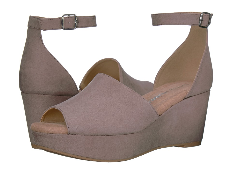 Dirty Laundry DL Dare Me Wedge Sandal (Pebble Taupe) Women