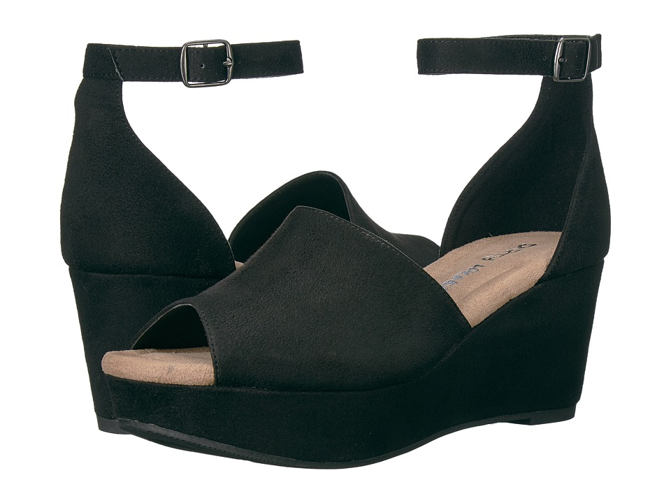 Dirty Laundry DL Dare Me Wedge Sandal (Black) Women