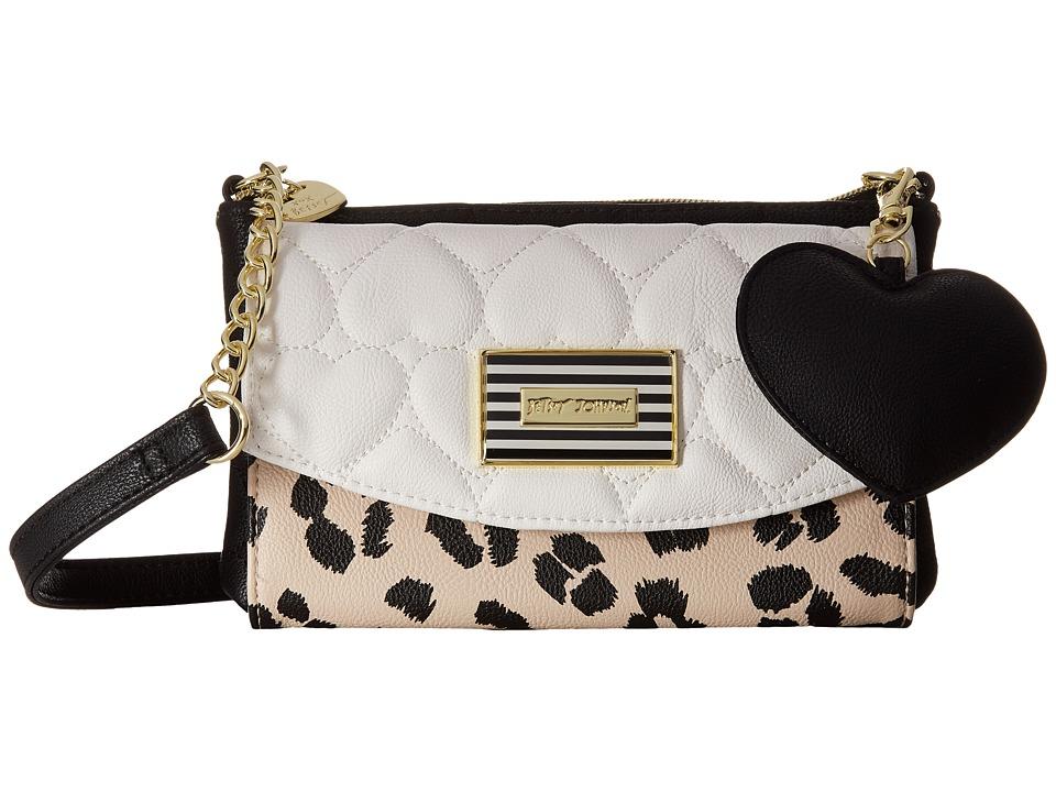 Betsey Johnson - Trifold Wallet on String (Cheetah) Wallet Handbags