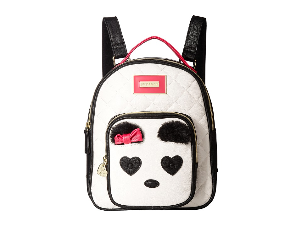 Betsey Johnson - Medium Backpack (Cream) Backpack Bags