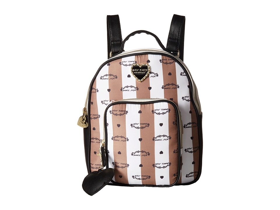 Betsey Johnson - Quilted Winged Heart Backpack (Spice) Backpack Bags