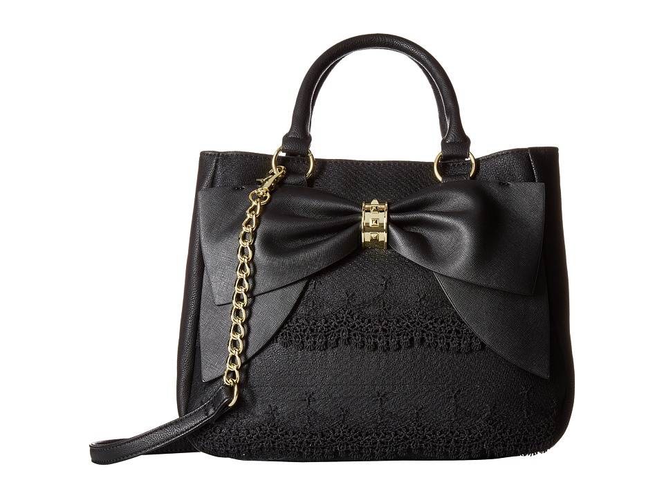 Betsey Johnson - Bow on Bucket (Black Cream) Handbags