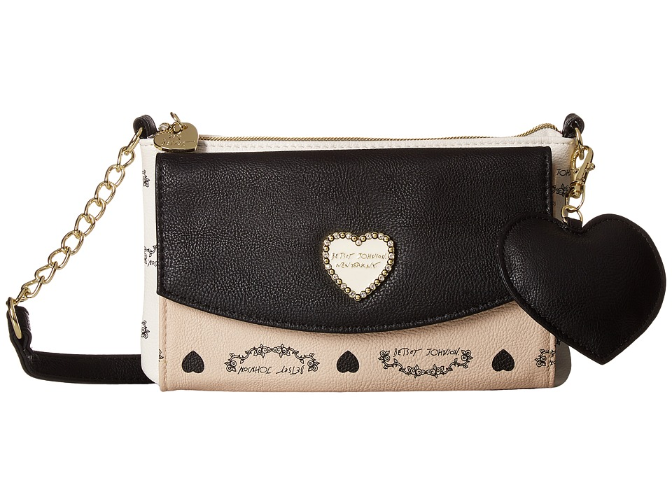 Betsey Johnson - Trifold Wallet on String (Sand) Wallet Handbags