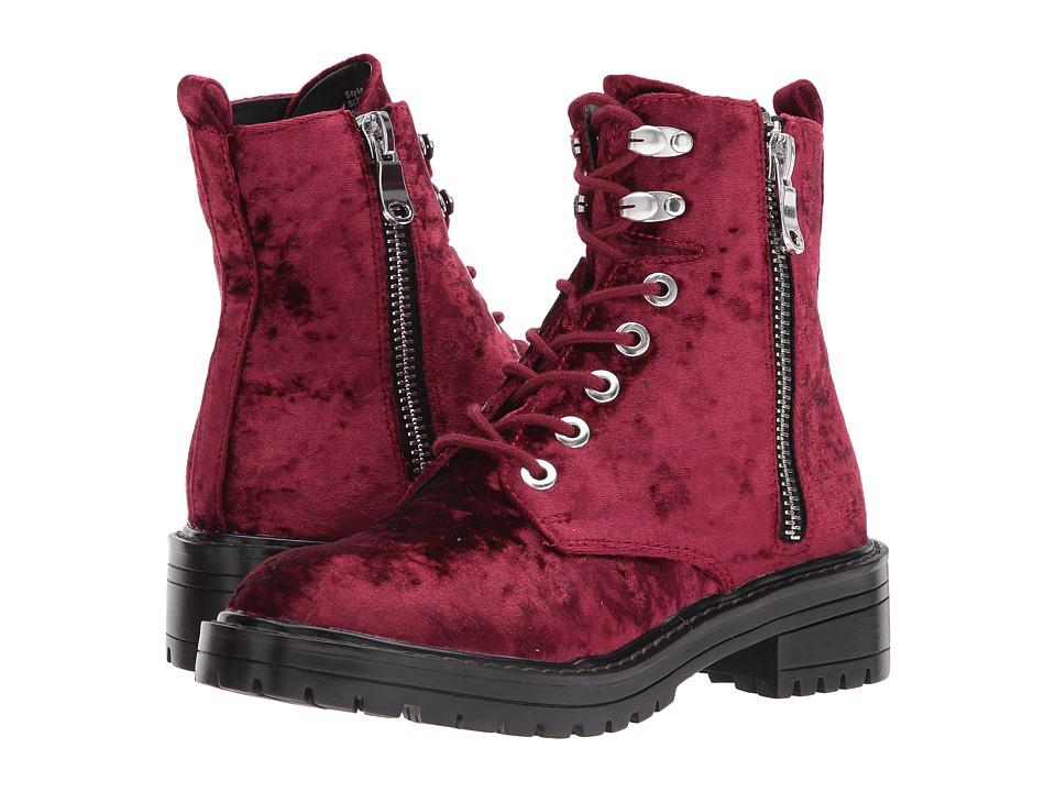 Steve Madden - Revive (Burgundy Velvet) Women's Lace-up Boots