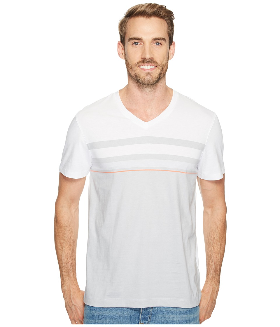 Calvin Klein - Short Sleeve Allover Engineer Stripe Tee (White Wash) Men's T Shirt