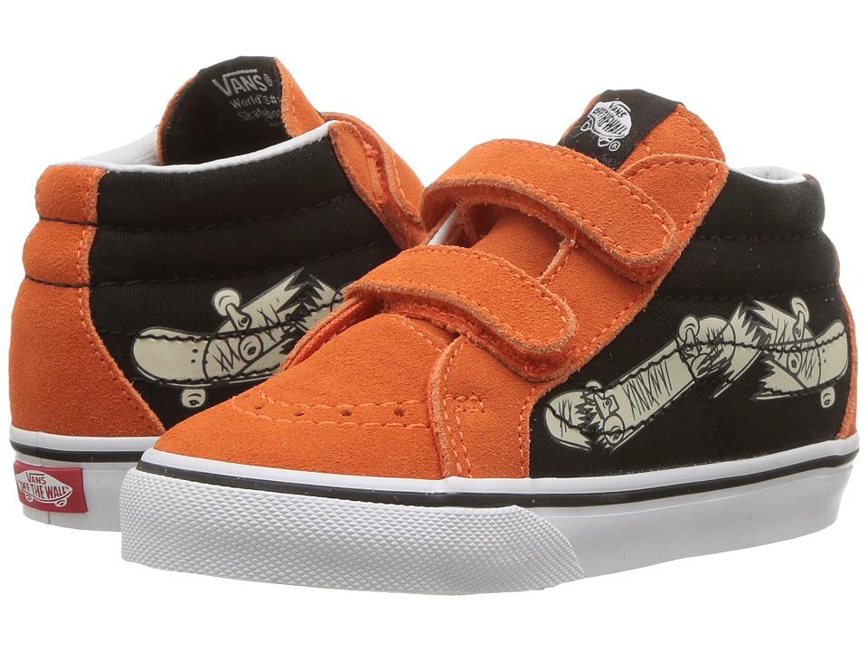 Vans Kids Sk8-Mid Reissue V (Toddler) ((Vans Focus) Flame/Black) Boys Shoes
