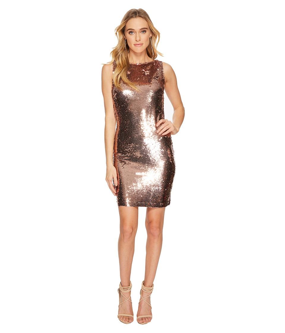BB Dakota Garland Sequin Bodycon Dress (Rose Gold) Women