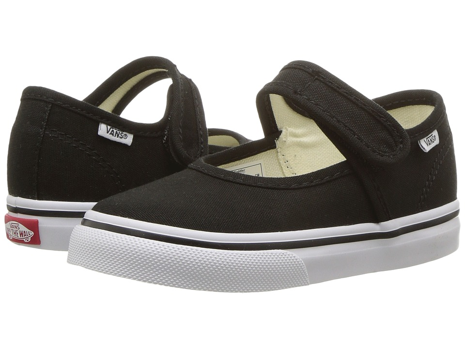 Vans Kids Mary Jane (Toddler) (Black/True White) Girls Shoes
