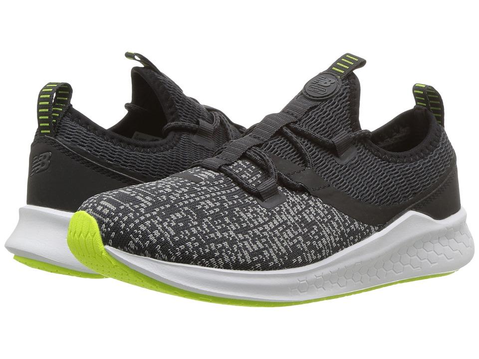 New Balance Kids KJLAZv1P (Little Kid) (Grey/Black) Boys Shoes