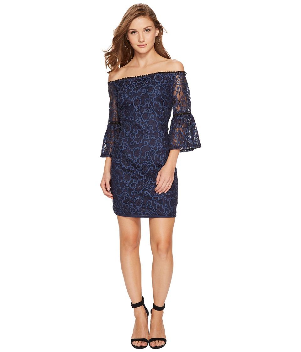 BB Dakota Danlyn Off the Shoulder Lace Dress (Blue) Women