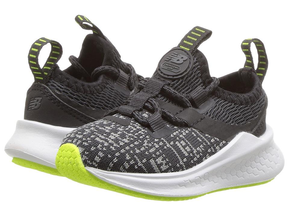 New Balance Kids KJLAZv1I (Infant/Toddler) (Grey/Black) Boys Shoes