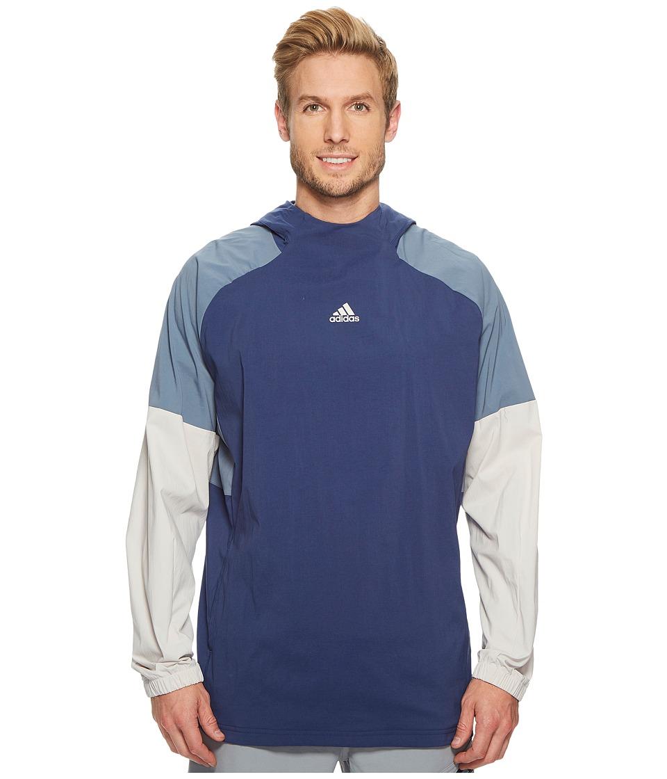 adidas Sport ID Pullover Woven Hoodie (Noble Indigo) Men