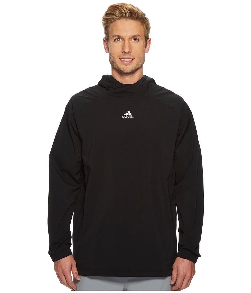adidas Sport ID Pullover Woven Hoodie (Black) Men