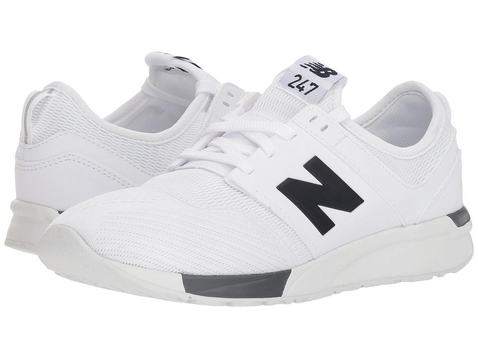 New Balance Kids KL247v1G (Big Kid) (White/Black) Boys Shoes
