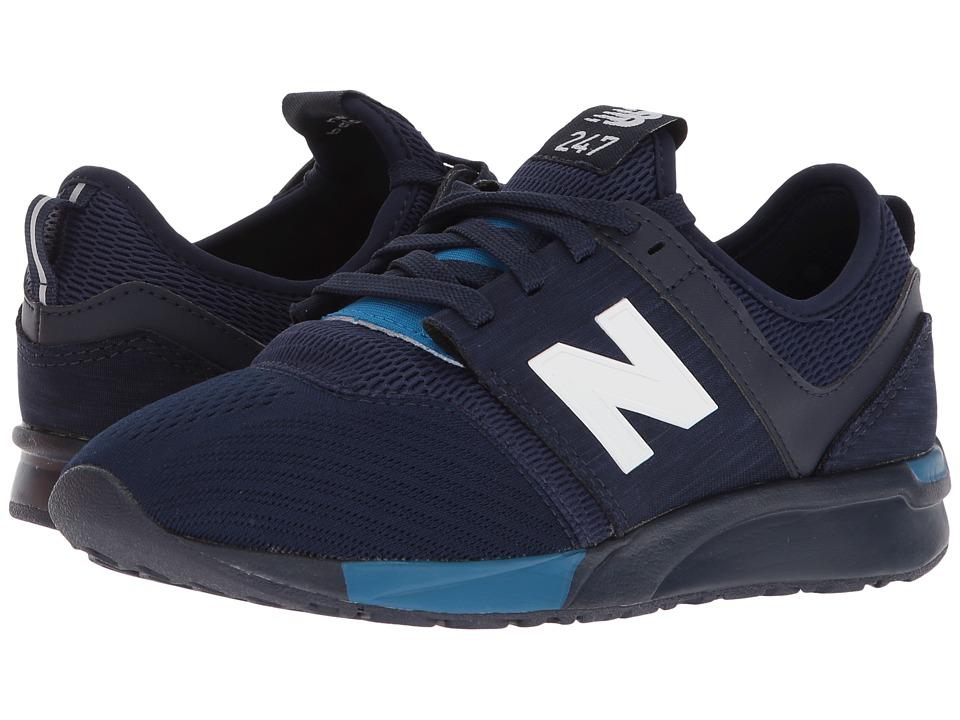 New Balance Kids KL247v1G (Big Kid) (Blue/Blue) Boys Shoes