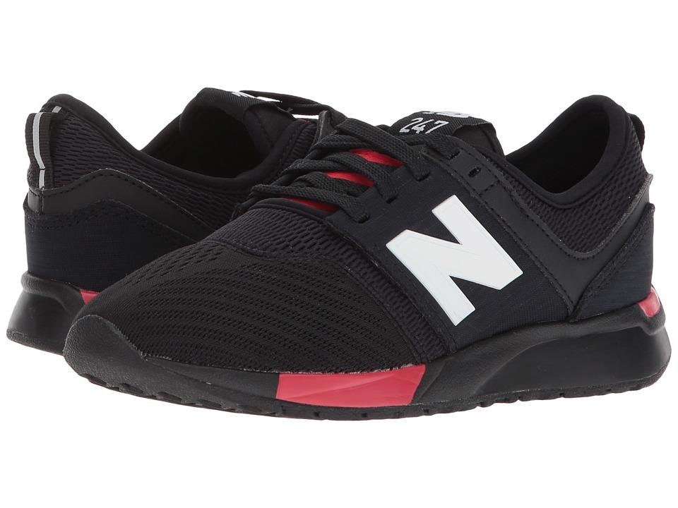 New Balance Kids KL247v1P (Little Kid) (Black/Red) Boys Shoes