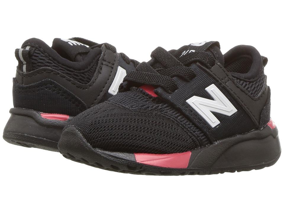 New Balance Kids KA247v1I (Infant/Toddler) (Black/Red) Boys Shoes