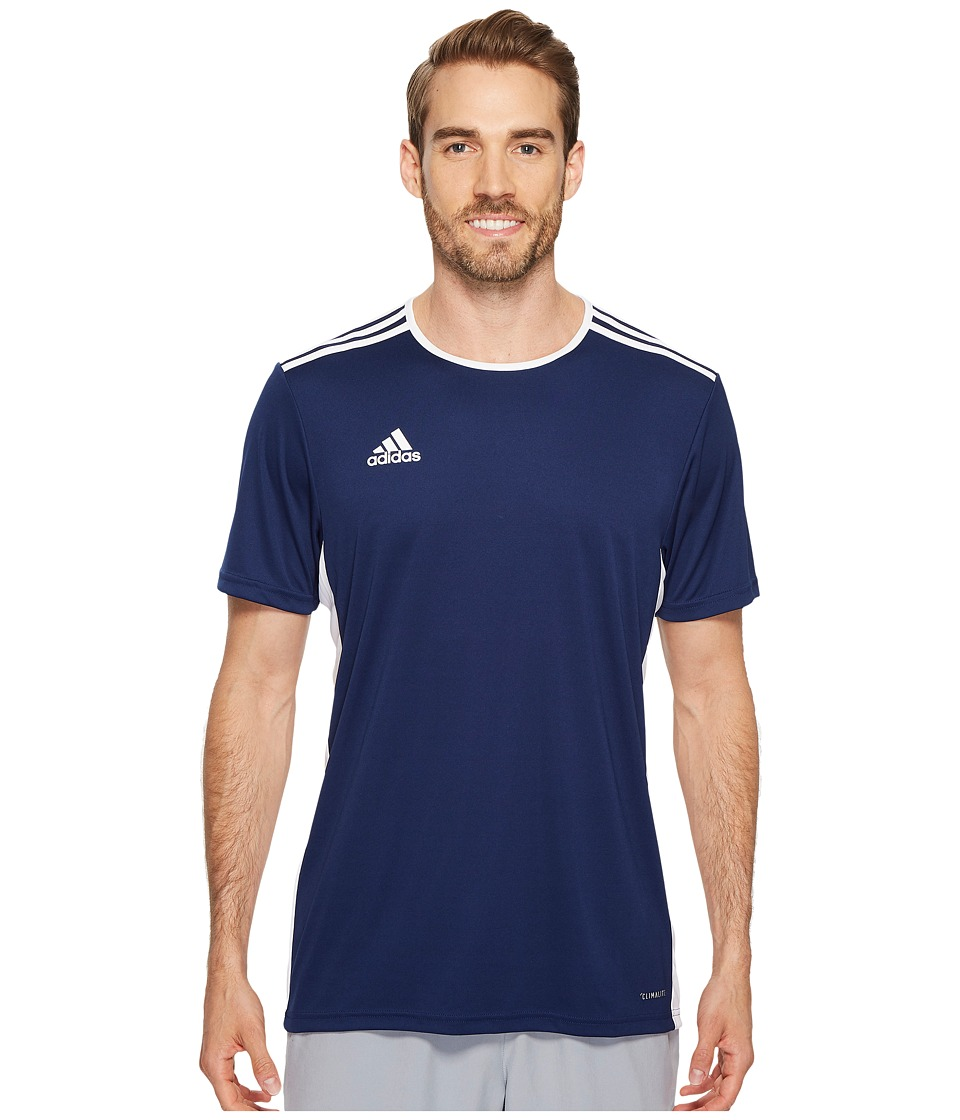 adidas - Entrada 18 Jersey (Dark Blue/White) Men's Clothing