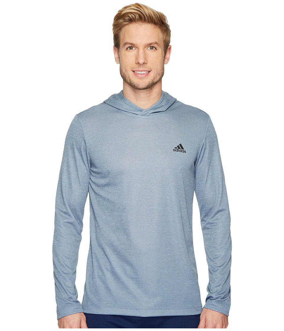 adidas Essentials Tech Tee Remix Hoodie (Raw Steel) Men