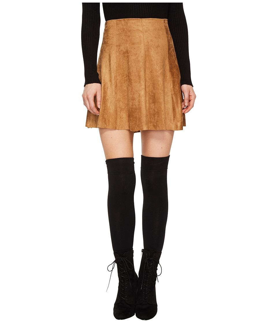 BB Dakota Aileen Faux Suede Skirt (Whiskey) Women