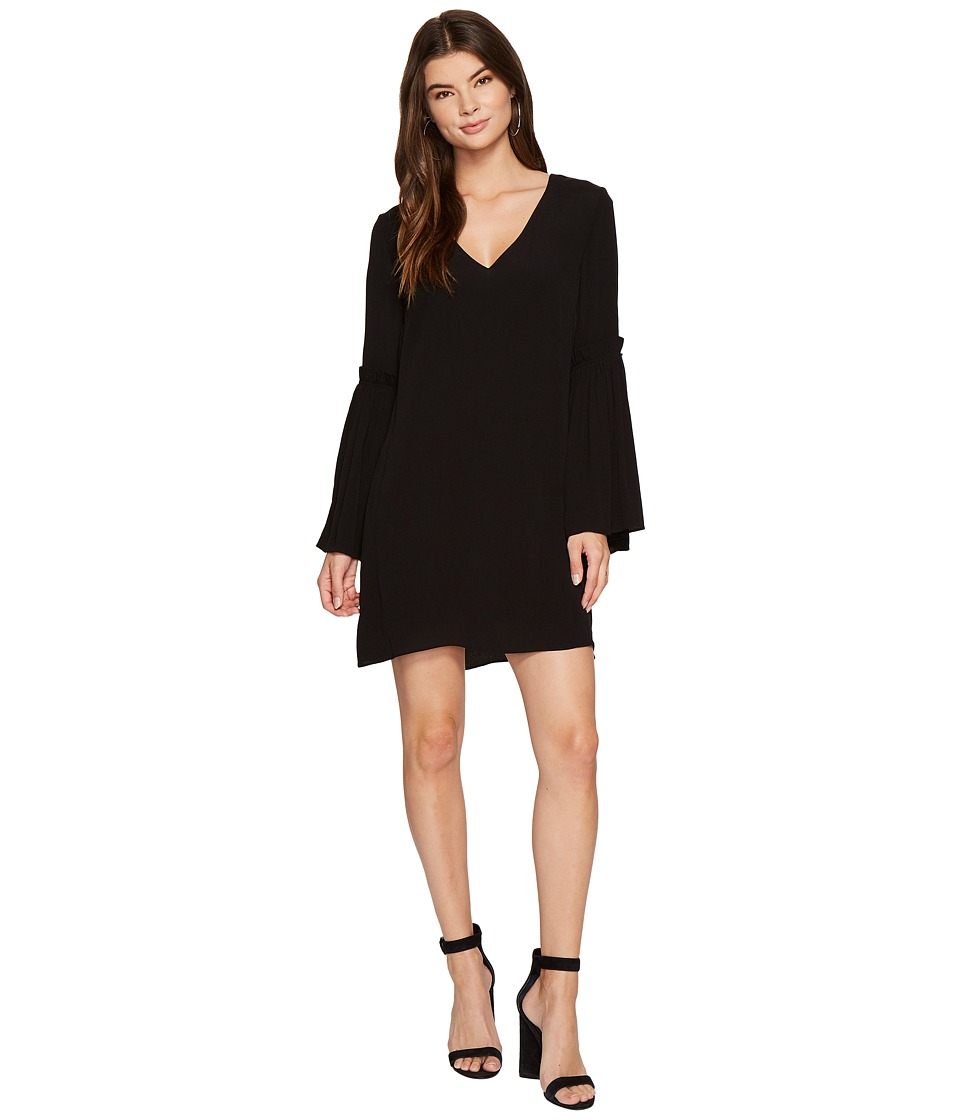 Image of 1.STATE - Bell Sleeve Swing Dress (Rich Black) Women's Dress