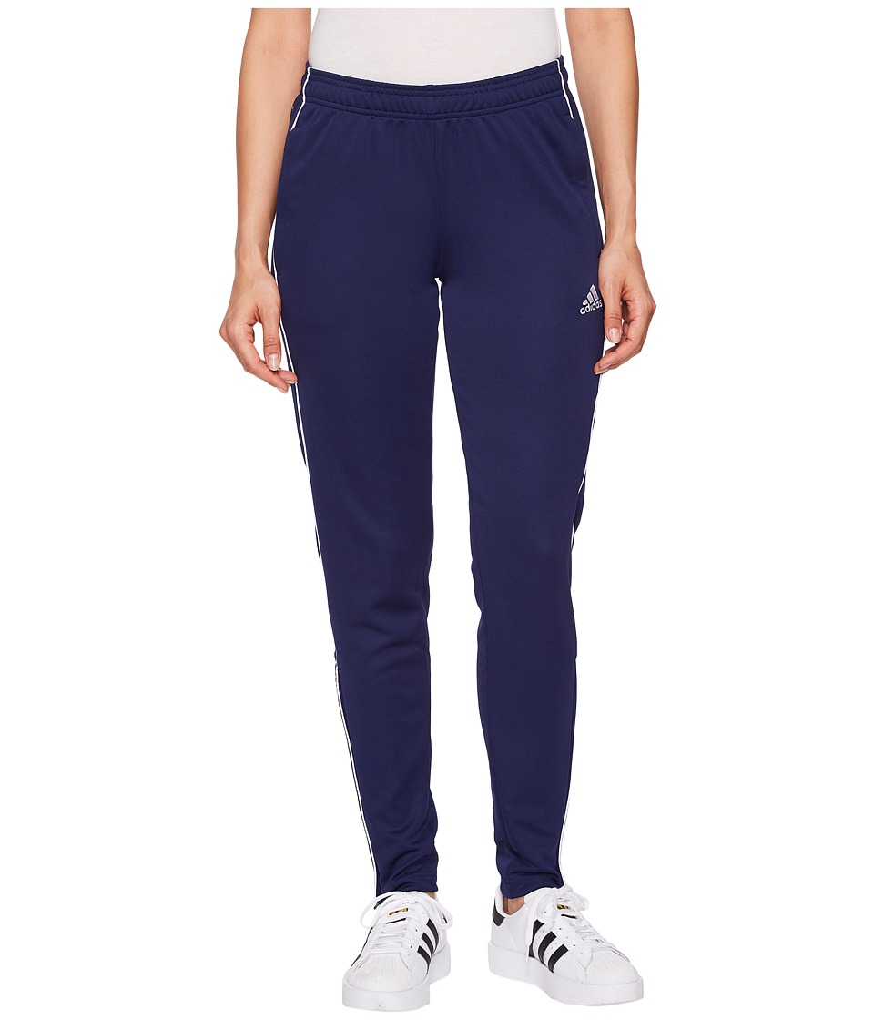 adidas Core18 Training Pants (Dark Blue/White) Women