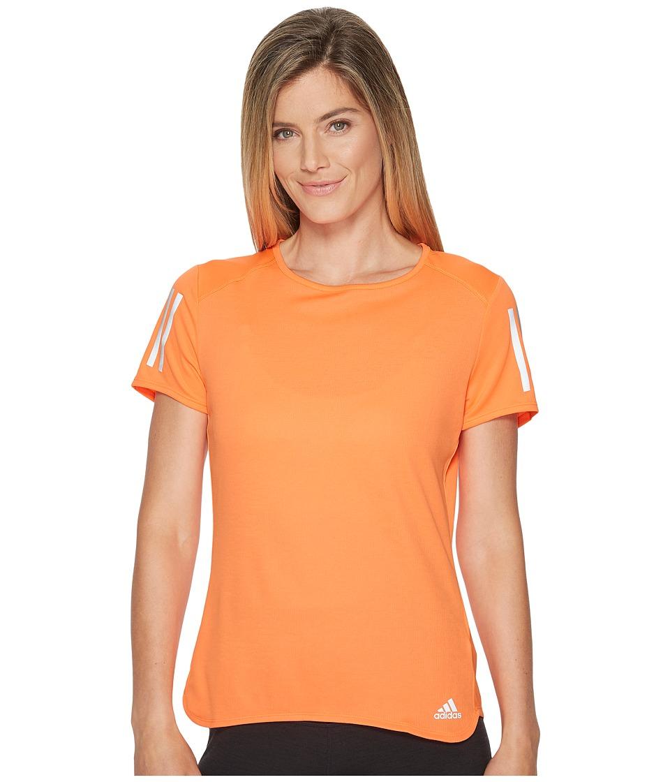adidas Response Short Sleeve Tee (High-Res Orange) Women