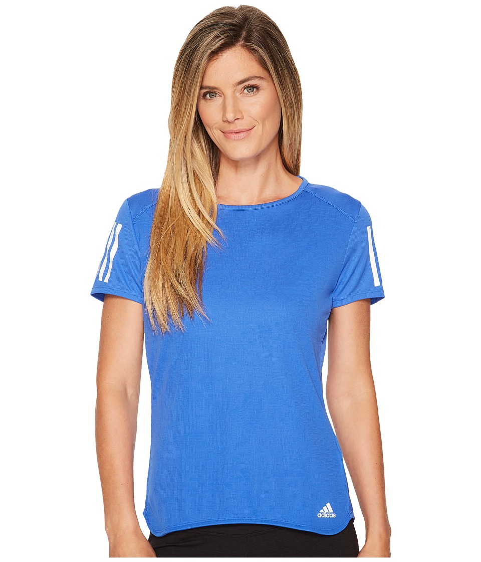 adidas Response Short Sleeve Tee (High-Res Blue) Women