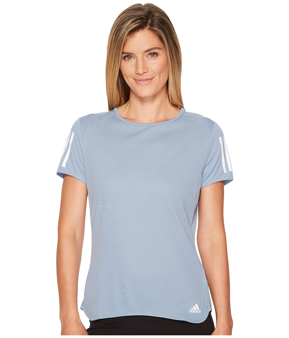 adidas Response Short Sleeve Tee (Raw Grey) Women