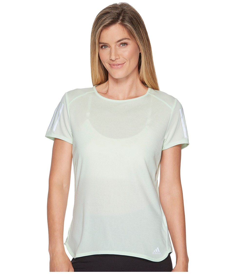 adidas Response Short Sleeve Tee (Aero Green) Women