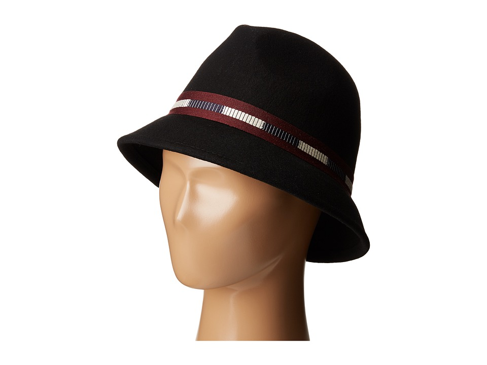Vince Camuto - Varsity Ribbon Cloche (Black) Traditional Hats