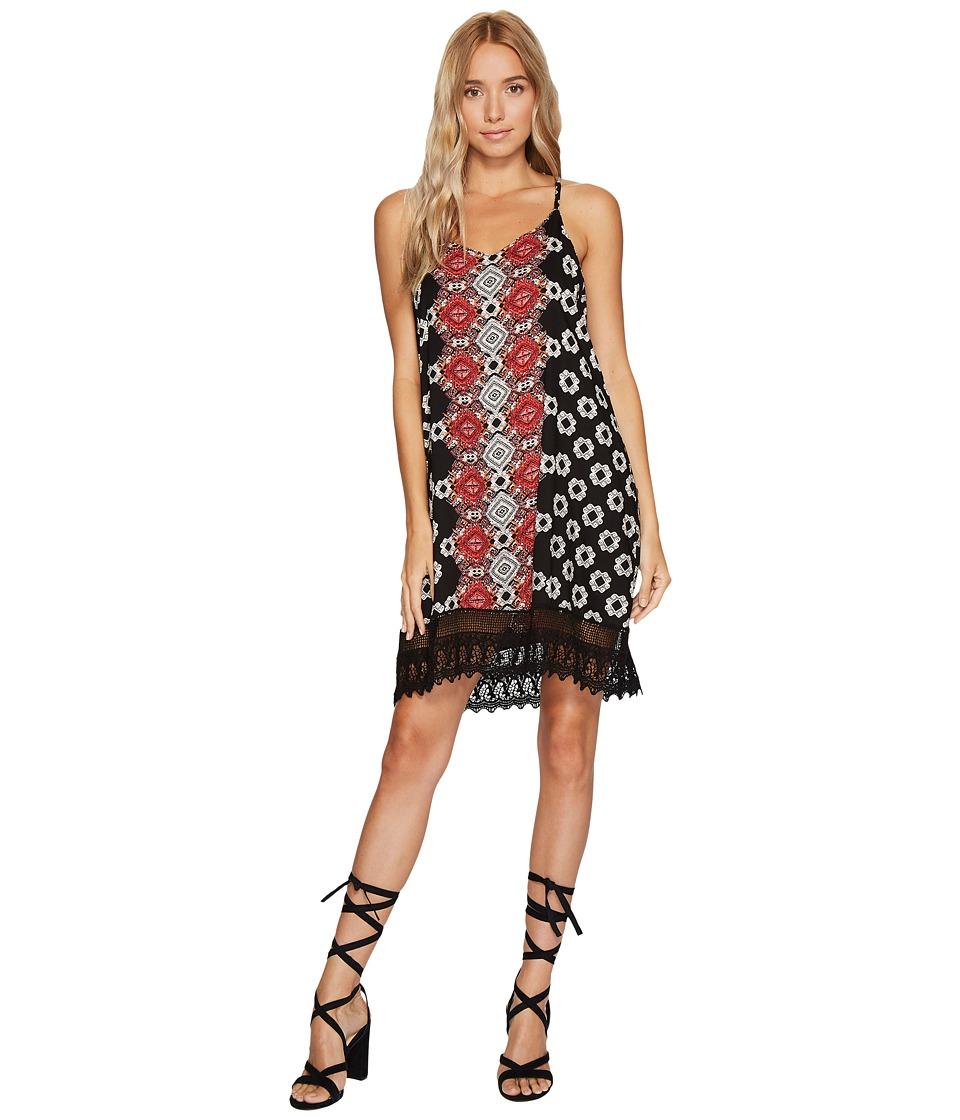 Angie - STRP Dress with Crochet (Black) Women's Dress