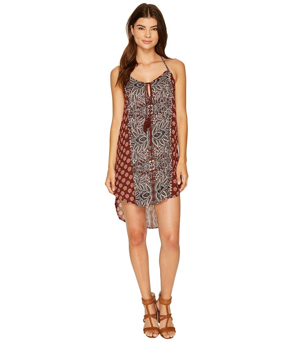 Angie - Tassle Tie Dress (Mocha) Women's Dress