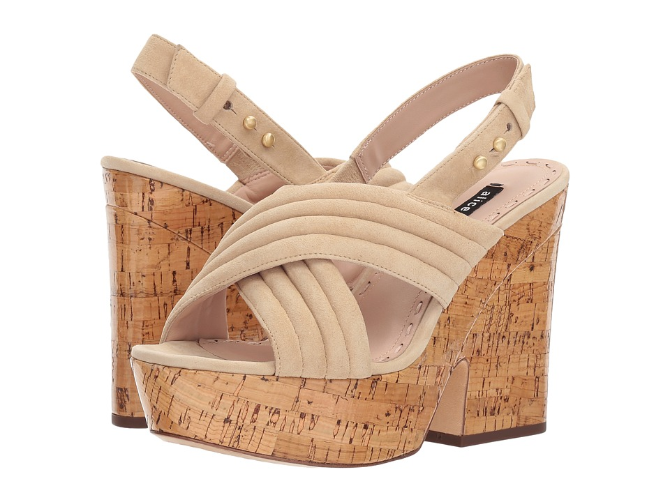 Alice + Olivia - Charlize (Nude) Women's Wedge Shoes