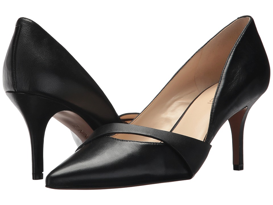 Nine West - Kimery (Black Leather) High Heels
