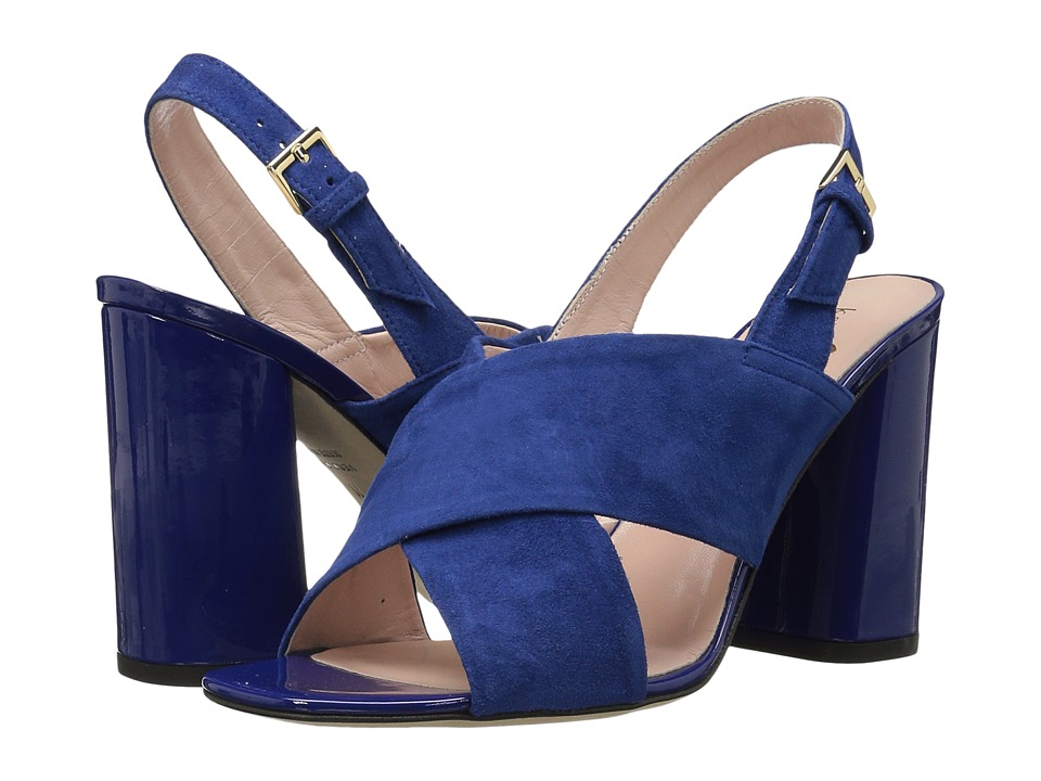 Kate Spade New York - Christopher (Cobalt Kid Suede/Garden Blue Patent) Women's Shoes
