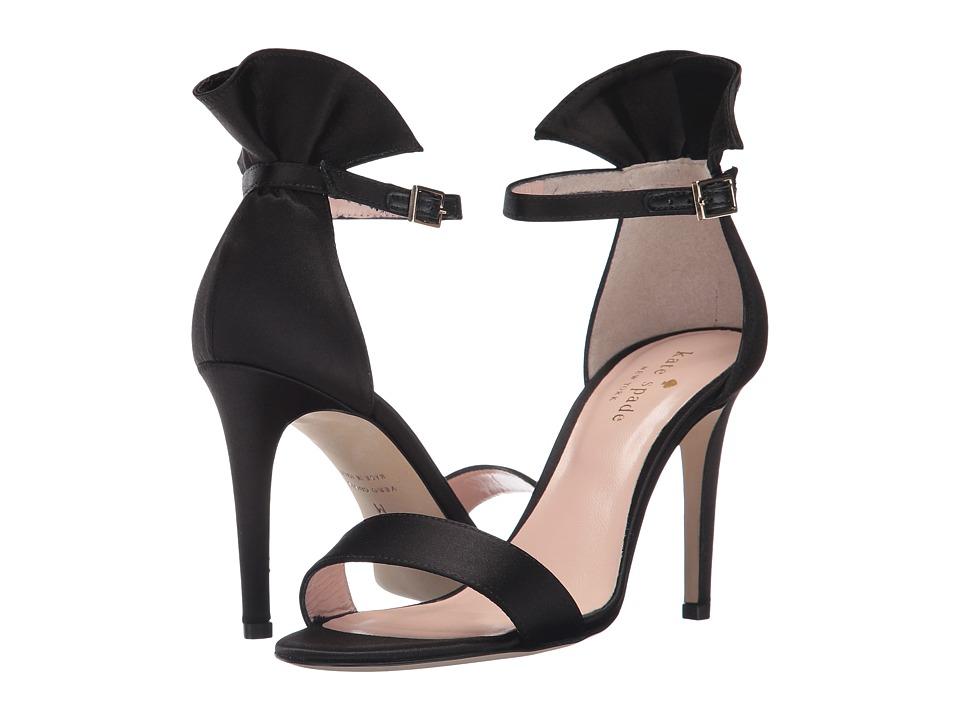 Kate Spade New York - Iris (Black Satin) Women's Shoes
